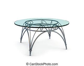 現代, コーヒー, ガラス, テーブル