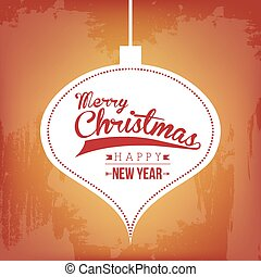 merry christmas and happy new year over vintage background...