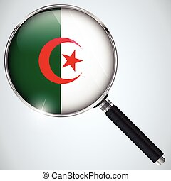 NSA USA Government Spy Program Country Algeria - Vector -...