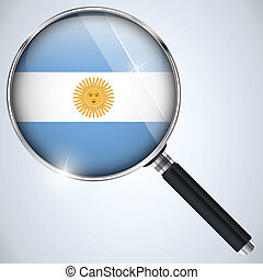 NSA USA Government Spy Program Country Argentina - Vector -...