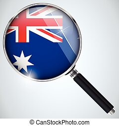 NSA USA Government Spy Program Country Australia - Vector -...