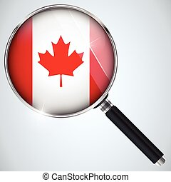 NSA USA Government Spy Program Country Canada - Vector - NSA...