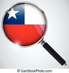 NSA USA Government Spy Program Country Chile - Vector - NSA...