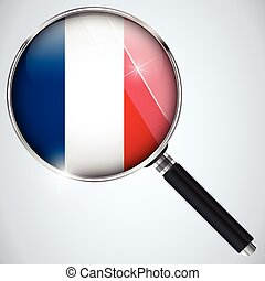 NSA USA Government Spy Program Country France - Vector - NSA...