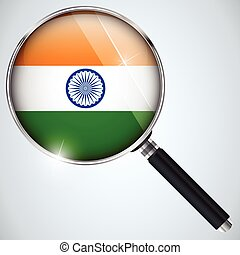 NSA USA Government Spy Program Country India - Vector - NSA...