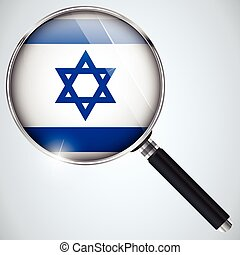NSA USA Government Spy Program Country Israel - Vector - NSA...