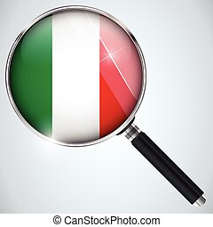 NSA USA Government Spy Program Country Italy - Vector - NSA...