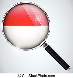 NSA USA Government Spy Program Country Monaco - Vector - NSA...