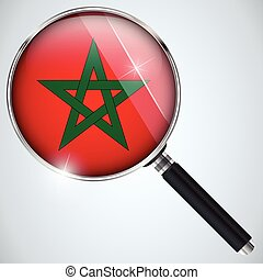 NSA USA Government Spy Program Country Morocco - Vector -...