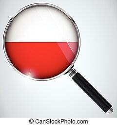 NSA USA Government Spy Program Country Poland - Vector - NSA...