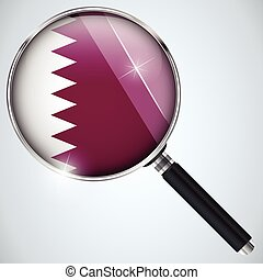 NSA USA Government Spy Program Country Qatar - Vector - NSA...