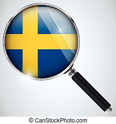 NSA USA Government Spy Program Country Sweden - Vector - NSA...