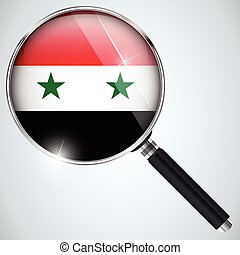 NSA USA Government Spy Program Country Syria - Vector - NSA...