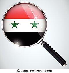 NSA USA Government Spy Program Country Syria - Vector - NSA...