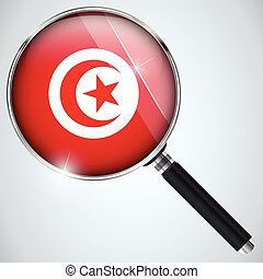 NSA USA Government Spy Program Country Tunisia - Vector -...