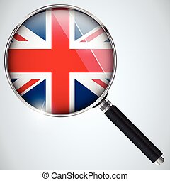 NSA USA Government Spy Program Country UK - Vector - NSA USA...