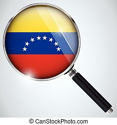 NSA USA Government Spy Program Country Venezuela - Vector -...