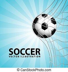 soccer design over blue background vector illustration