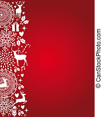 Merry Christmas elements red postcard vector file.