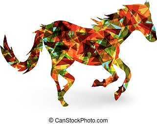 Chinese new year of the Horse abstract triangle EPS10 file....