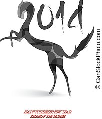 Chinese new year of the Horse EPS10 vector file.