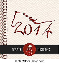Chinese new year of the Horse shape vector file. - 2014...