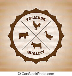 grill menu over vintage background vector illustration