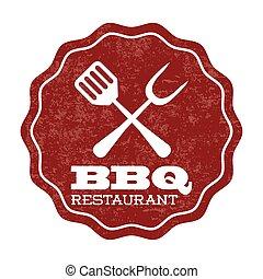 bbq design over white background vector illustration
