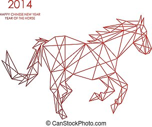 Chinese new year of the Horse triangle web shape file -...