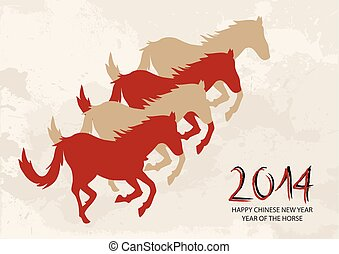 Chinese new year Horse shapes composition vector file.