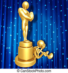 Film Award Loser Crying - 3D Concept And Presentation Figure