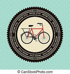 bicycle design over blue background  vector illustration