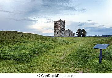 Church Ruins at Dusk - Dusk at the ruins of Knowlton Church...