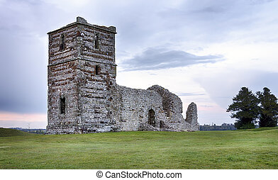 Church Ruins at Dusk - Dusk at the ruins of Knowlton Church...