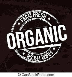 organic label over black background vector illustration