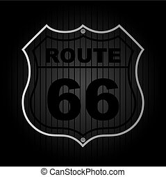 route 66 over black background vector illustration