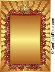 royal background with vintage frame and crown
