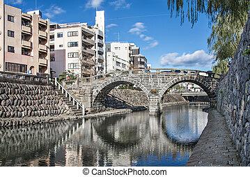 Spectacles Bridge in Nagasaki - Nagasaki, Japan at...