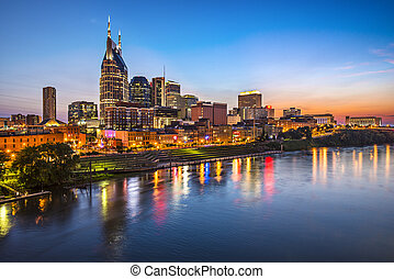 Nashville Tennessee - Skyline of downtown Nashville,...