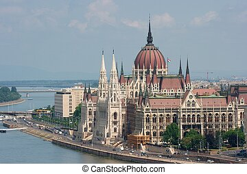 Parlament - The building of the Parliament, Budapest,...