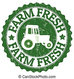 Farm Fresh stamp - Farm Fresh grunge rubber stamp on white,...