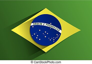 Flag of Brazil - Creative Abstract Flag of Brazil Backgroung...