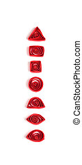 Quilling basic elements - Quilling basic elements, isolated...