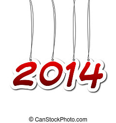 New year - 2014 - New year illustration - background with...