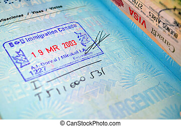 Passport - Immigration stamp on passport