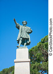Monument to Christopher Columbus 1914, Rapallo, Italy -...