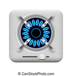 Gas burner icon. Vector illustration.