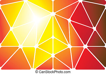 Colorful abstract triangles background of geometric shapes