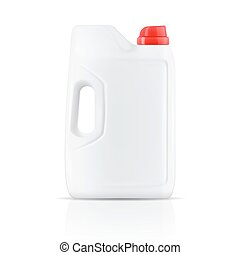 White laundry detergent powder container.