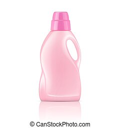 Pink liquid laundry detergent bottle - Pink plastic bottle...